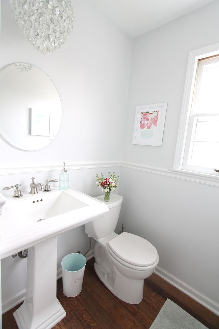 57 best half bath images on pinterest bathroom ideas bathroom a beautiful half bath makeover to add light space get the details at www