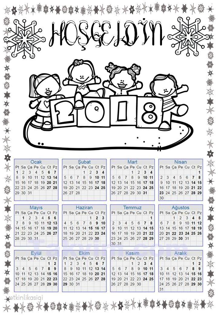 yeni yıl takvimi 2018