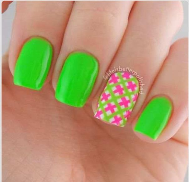 Nail Designs Lime Green | Nail Art Designs