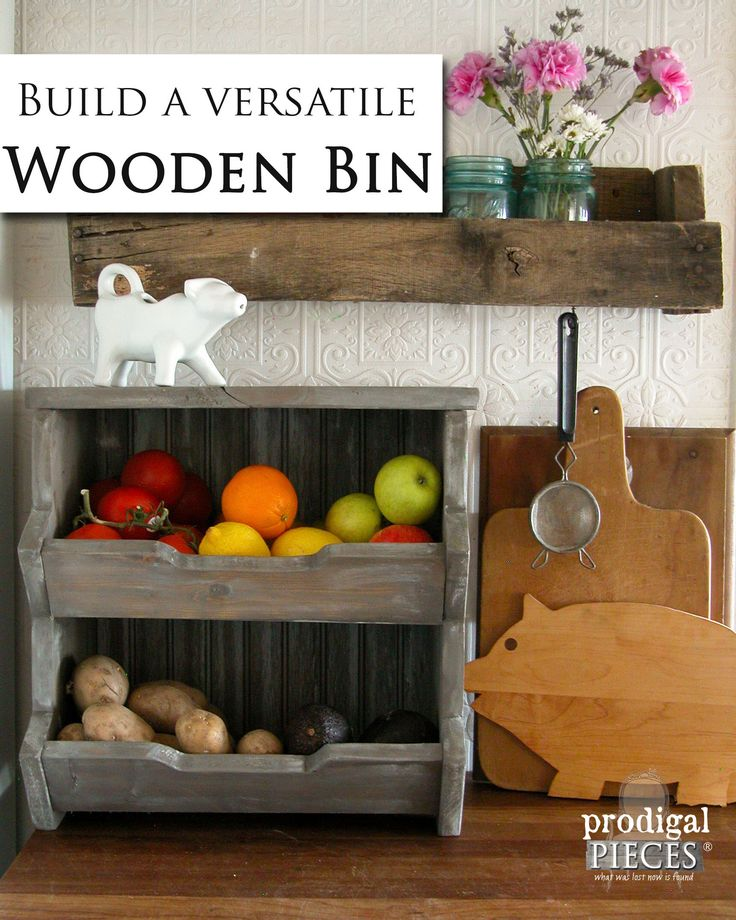 Easy Step-by Step Plans to Build Your Own Wooden Storage Bin by Prodigal Pieces | www.prodigalpieces.com