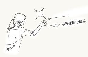 pid:  安全設計  ワイヤーが本体に戻る際に人の歩くスピードで戻るように設計されています。そのため、間違ってワイヤーを手から離してしまっても怪我をする心配がありません。