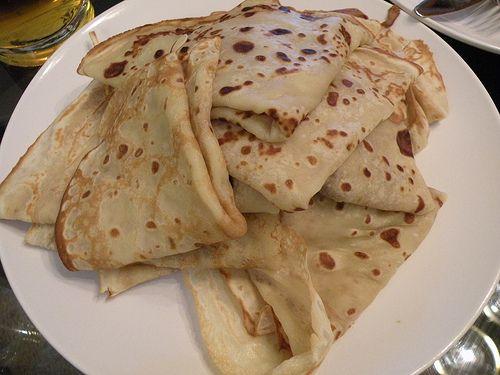 """Grandma's"" Danish pancakes (crepes) Recipe! Most delicious breakfast food ever! Tutorial and recipe at www.houseofhepworths.com"