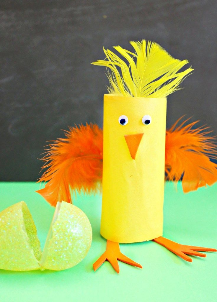 Crazy Easy Chick Easter Craft