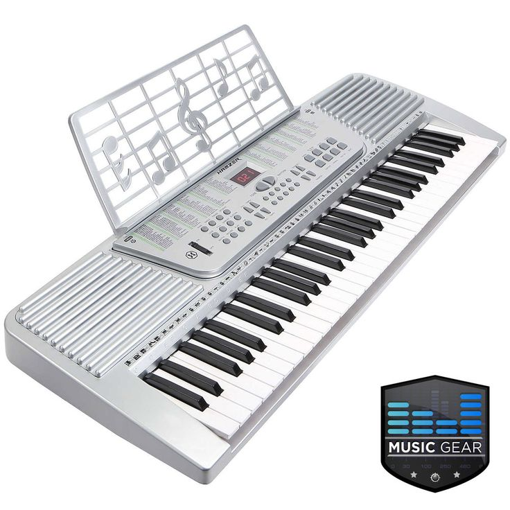 61 Key Electronic Music Electric Keyboard Piano - Silver #LeadingLiving