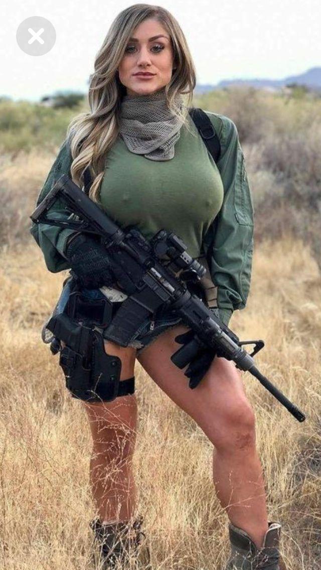 With Hot guns girls