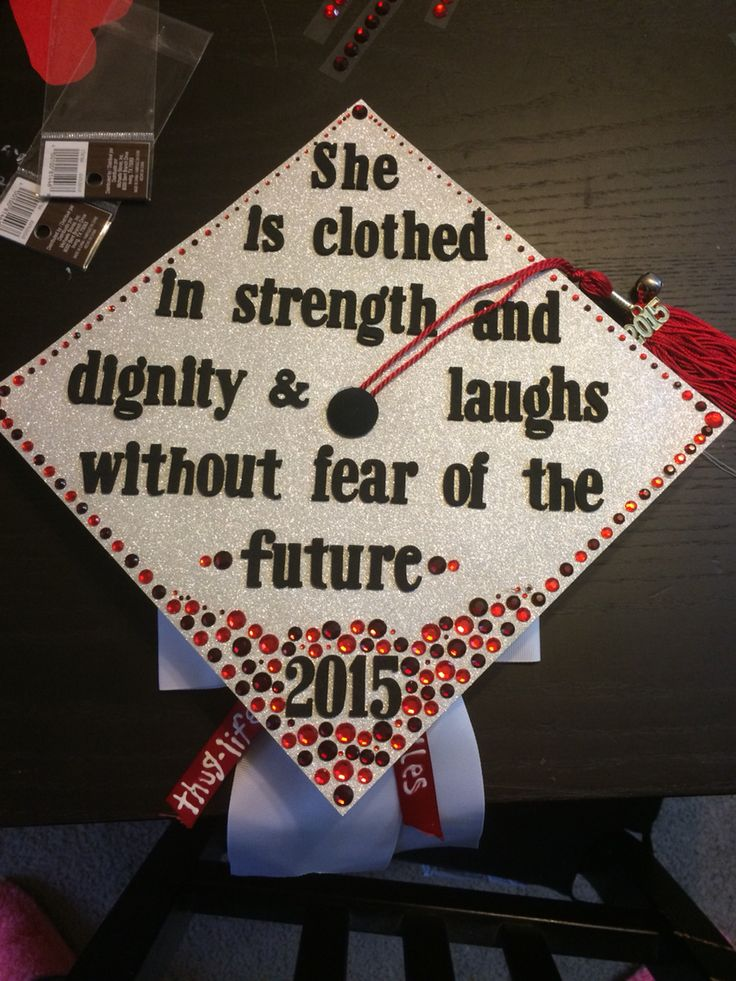 Proverbs 31 25 Graduation Cap Decoration This Took So
