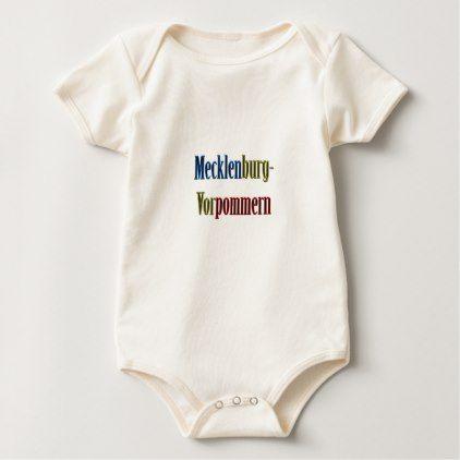 Mecklenburg-Vorpommern Baby Bodysuit - western style diy unique customize stylish