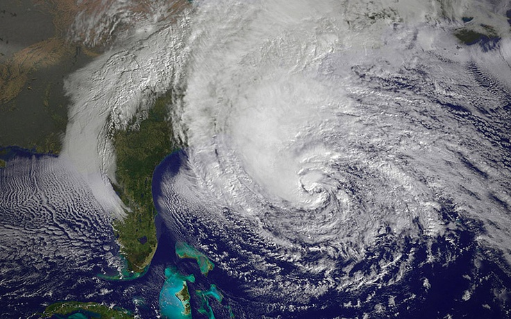 Hurricane Sandy. Thoughts and prayers go to the east coasters.