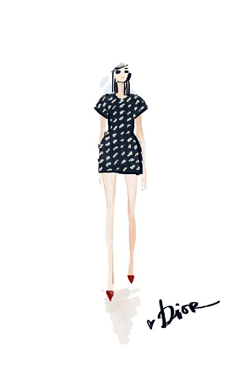 Dior couture 2014 illustration