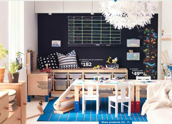 rangement banc trofast ikea idee avec des coussins sur. Black Bedroom Furniture Sets. Home Design Ideas