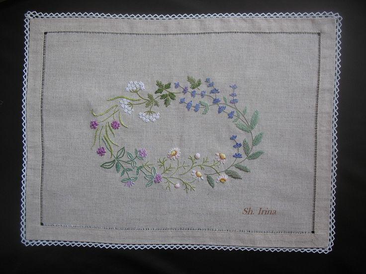 вышивка японских дизайнов, японская вышивка, Herb Embroidery on Linen, дизайны Садако Тоцука (Sadako Totsuka), японские книги по рукоделию