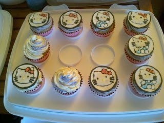 #HelloKitty #cupcake toppers