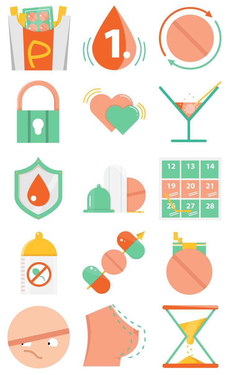 Icon Set für sicher-verhueten.de von ELISABETH DEIM