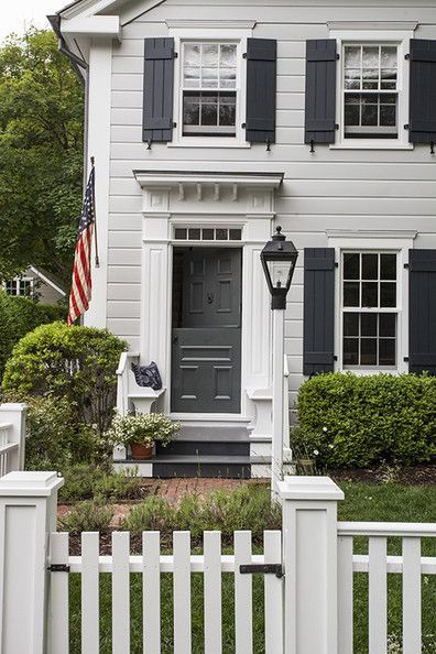 Warm welcome in 2019 home exterior ideas house paint - Front door colors for grey house ...