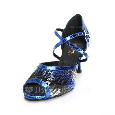 Dance Shoes - $33.99 - Women's Leatherette Heels Sandals Latin With Ankle Strap Dance Shoes (053051805) http://jjshouse.com/Women-S-Leatherette-Heels-Sandals-Latin-With-Ankle-Strap-Dance-Shoes-053051805-g51805