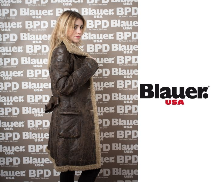 Giacca in pelle Blauer USA
