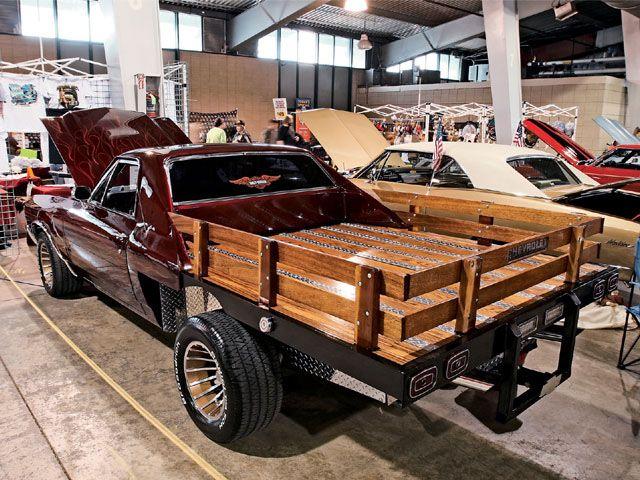Chevrolet El Camino Stake Bed Pickup Pikap Avtomobili Povozki