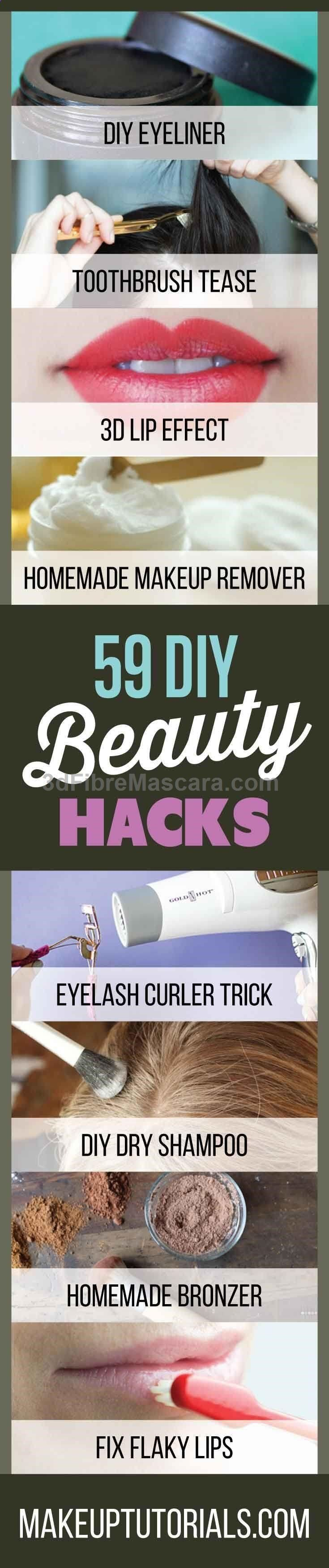 59 DIY Beauty Hacks | Tips & Tricks To Never Having A Dull Moment By Makeup Tutorials. makeuptutorials.c…