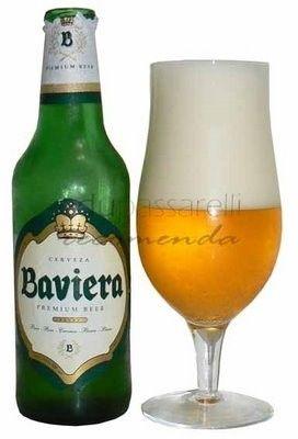 Cerveja Baviera, estilo Standard American Lager, produzida por Cerveceria Paraguaya - Cervepar, Paraguai. 5% ABV de álcool.