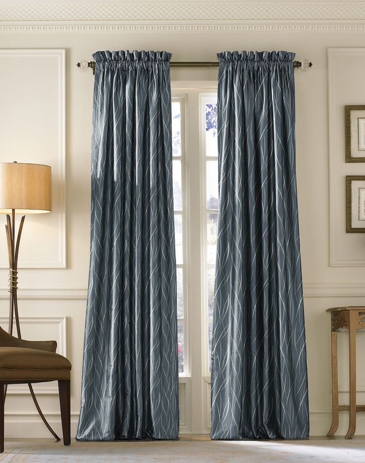 Navy coloured Atlantis design printed and looking elegant on curtains