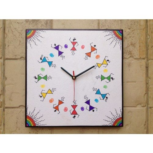 13 best Wall clocks with Warli Art images on Pinterest Indian