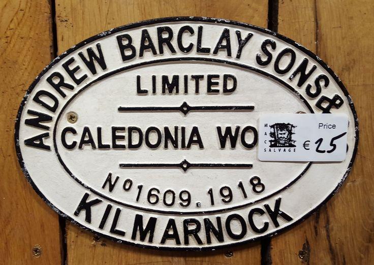 Assorted railway signs - Mac's Warehouse Dublin