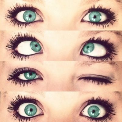 Great makeup. Love her eye color