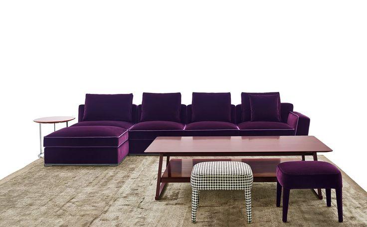 Purple decorating ideas for your home: Solatium sofa, Antonio Citterio, Maxalto, 2015 @bebitalia | #designbest #homedecor #design |