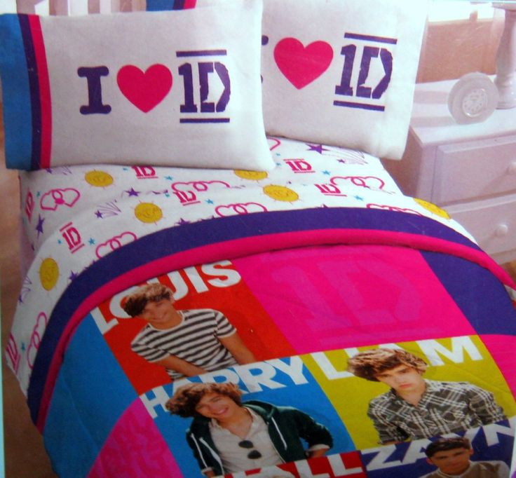 Amazon.com: One Direction Twin Comforter And Sheet Set: Home U0026 Kitchen