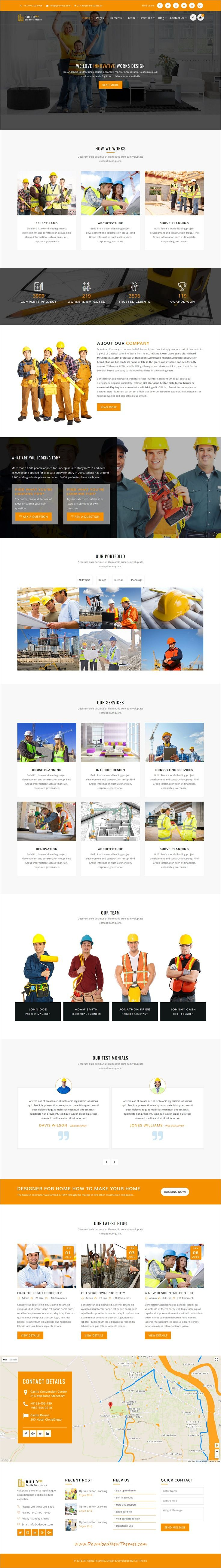 Build Pro is clean and modern design 4in1 responsive bootstrap #HTML template for #construction and #architecture company website to live preview & download click on image or Visit #webdesigns