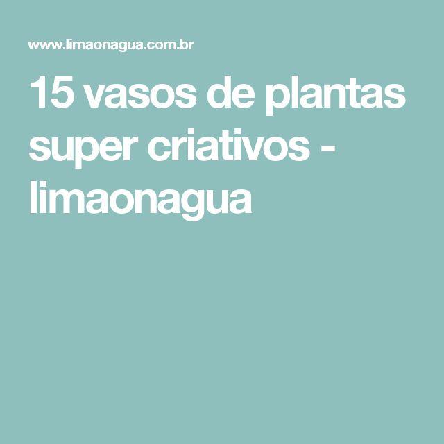 15 vasos de plantas super criativos - limaonagua