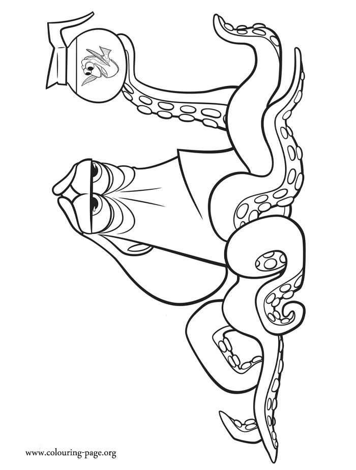 How about to print and color this amazing Hank and Dory coloring page? They are characters from the upcoming Disney movie Finding Dory. Enjoy!