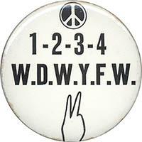 Classic Anti Vietnam War 1 2 3 4 Peace Slogan