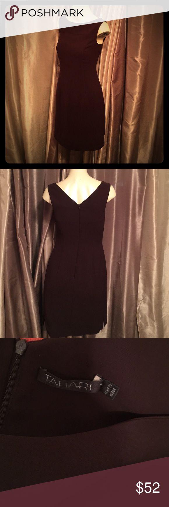 Tahari dress! Like new! Brown work dress! Size 4! Excellent condition! Tahari Dresses