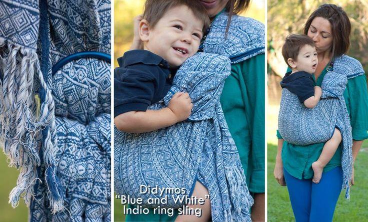didymos blue and white indio ringsling