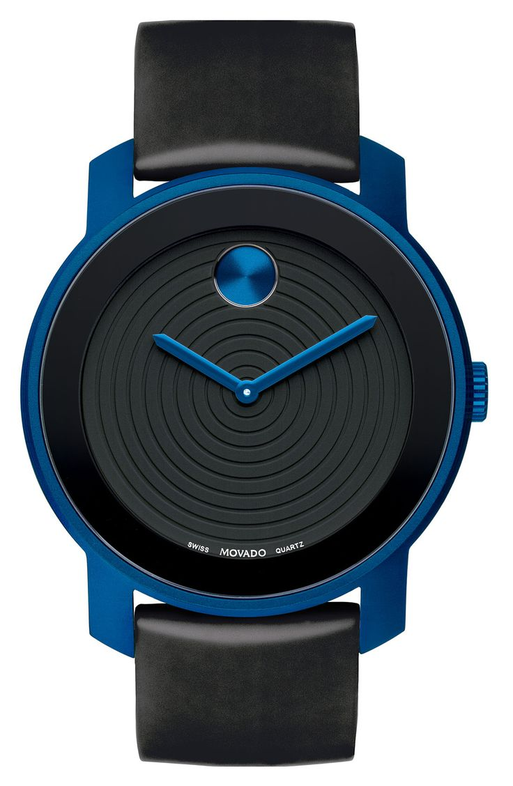 Movado 'Large Bold' Silicone Strap Watch available at Nordstrom