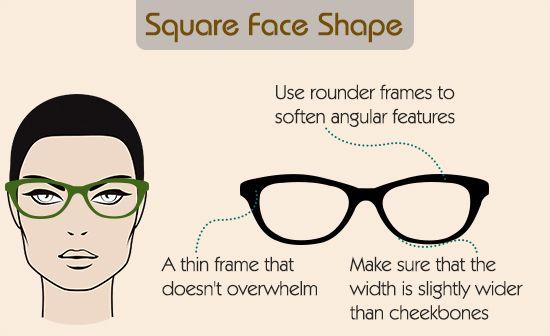 Eyeglass frames for square shape