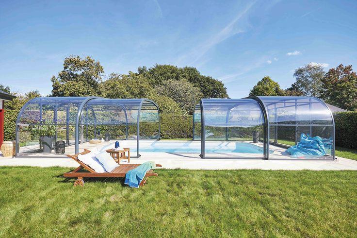 Profitez pleinement de votre piscine grâce à un abri télescopique. #elliptikh #abripiscinerideau