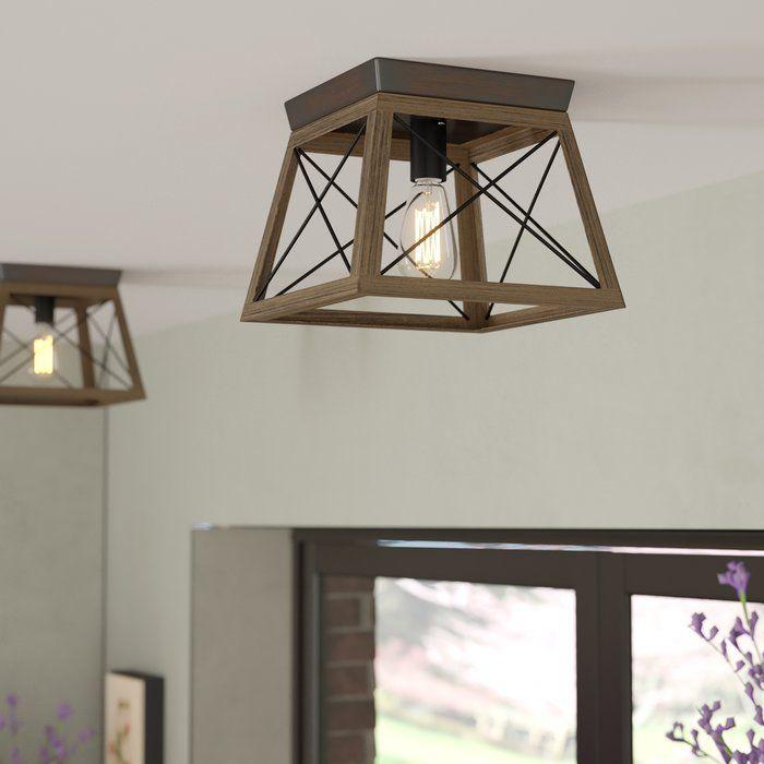 Delon 1 Light 9 5 Flush Mount Bedroom Light Fixtures Farmhouse Light Fixtures Farmhouse Lighting