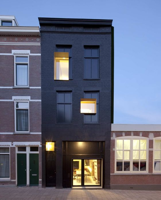 Black Pearl House and Workshop, Rotterdam: Facades, Building, Rotterdam Netherlands, Old Window, Studios Rolf Fr, Black Houses, Architecture, Zecc Architects, Black Pearls