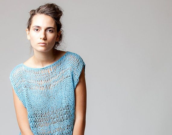 Hand knitted top by ColeHands on Etsy, $185.00