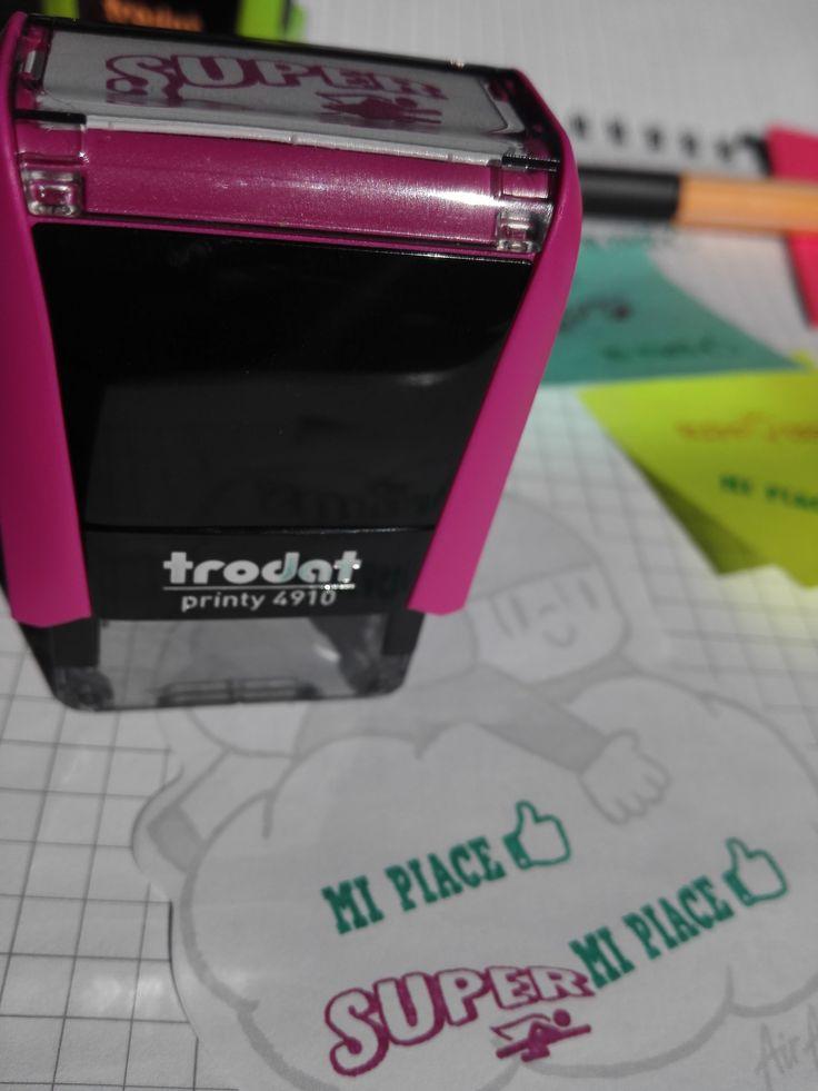 Super timbrino rosa per la scuola! #timbri #trodart #motivazionali  #motivazione #