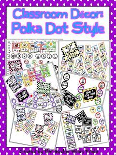 Second Grade With The Teacher Wears Prada: Updated my Polka Dot Classroom Decor Pack!