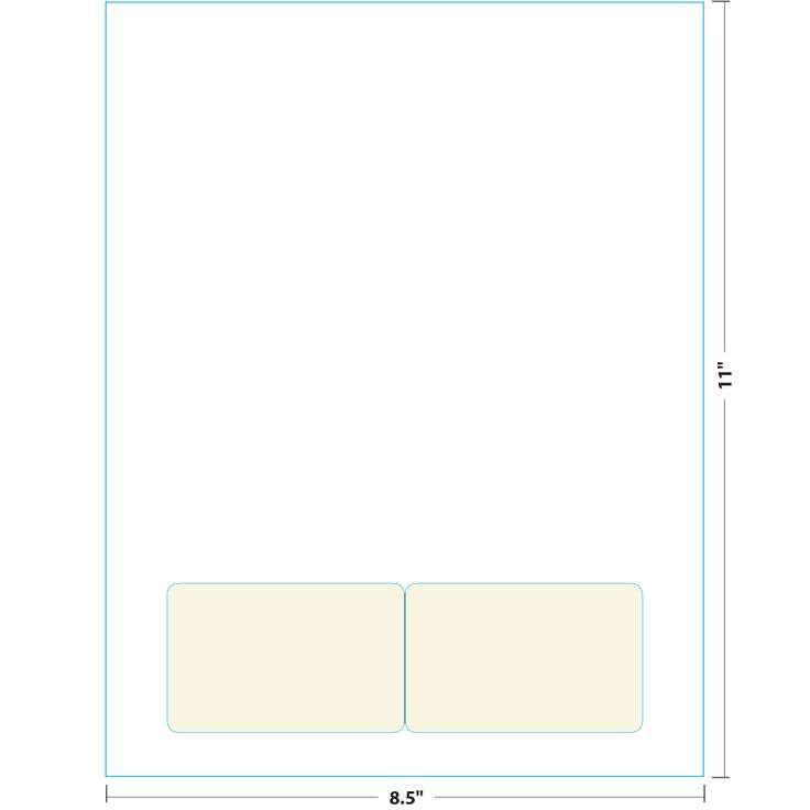 """2: 8.5"""" x 11"""" Sheet with Peel & Fold Integrated Card - Available in 4 paper stocks2-up on 8.5"""" x 12.75""""..."""