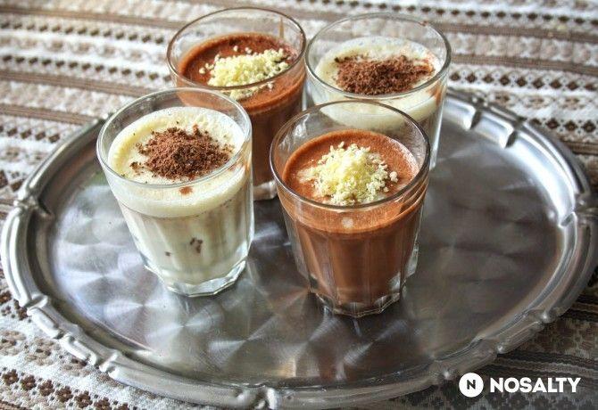 Duplacsokoládés-fűszeres poharas desszert