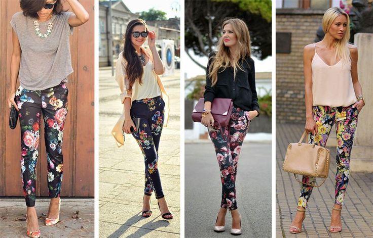 spodnie w kwiaty rurki - Szukaj w Google