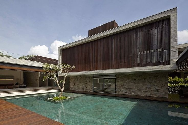 Reflecting pool courtyard residential design pinterest for Pool design 1970