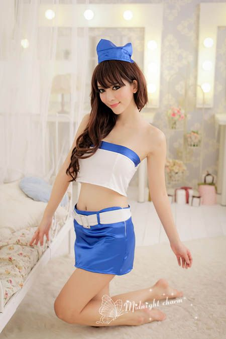 Cars sexy lingerie blue uniforms nightclub cosplay - JewelryUnder5.com