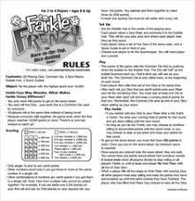Image result for yahtzee rules printable