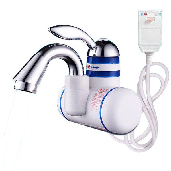 3KW 3 Segundos Instantáneo ducha eléctrica agua Calentador sin tanque eléctrico grifo Bathoom cocina grifo eléctrico agua Calentador con enchufe de protección de fuga a tierra